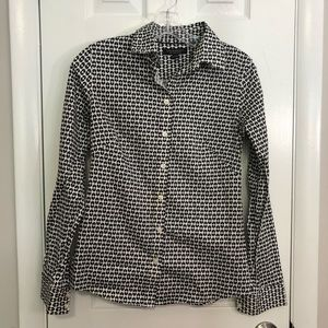 NWOT Express Black and White Work Blouse